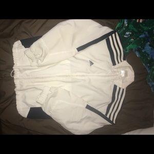 White adidas crop jacket